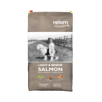 Pienso para perros Light And Senior Salmon 20 Kg - Retorn