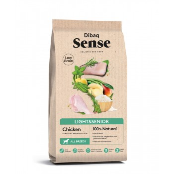 Pienso para perros Sense Low Grain  Light Senior Pollo - 2 Kg - Dibaq