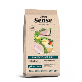 Pienso para perros Sense Low Grain Light Senior Mini Pollo - 2 Kg - Dibaq