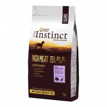 Pienso para perros High Meat Dog Adult Med/Max 2 Kg - True Instinct