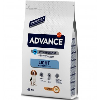 Pienso para perros Advance Medium Light Chicken & Rice 3 Kg - Affinity