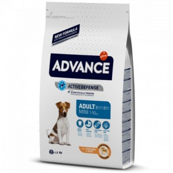 Pienso para perros Advance Mini Adult Chicken & Rice 1,5 Kg - Affinity
