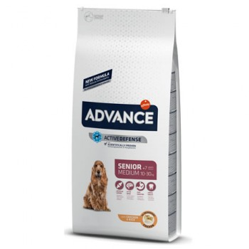 Pienso para perros Advance Medium Senior Chicken & Rice 12 Kg - Affinity