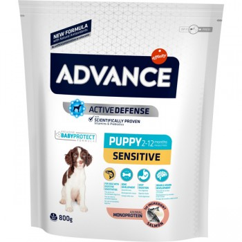Pienso para perros Advance Puppy Sensitive con Salmon 800Gr - Affinity