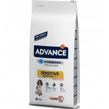 Pienso para perros Advance Medium-Maxi Sensitive Salmon & Rice 12 Kg - Affinity