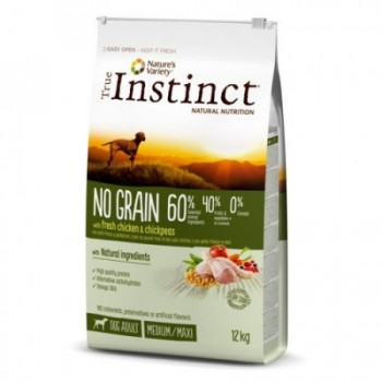 Pienso para perros No Grain Med Adult Chicken 12 Kg - True Instinct