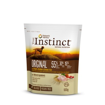 Pienso para perros Original Med Adult Chicken 600 Gr - True Instinct