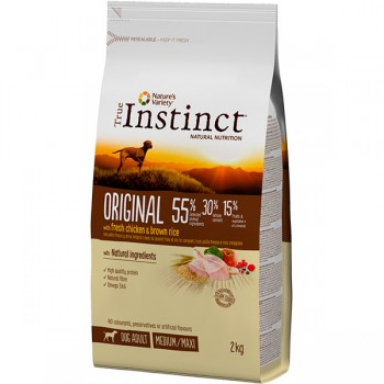 Pienso para perros Original Med Adult Chicken 2 Kg - True Instinct