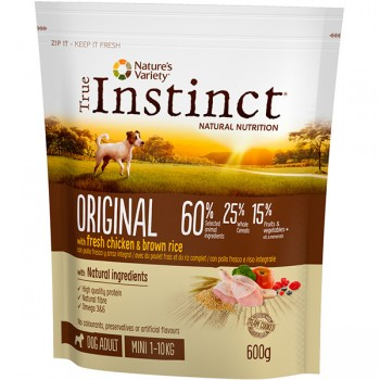 Pienso para perros Original Mini Chicken 600 Gr - True Instinct