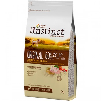 Pienso para perros Original Mini Chicken 2 Kg - True Instinct