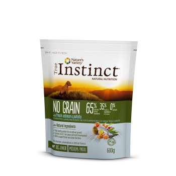 Tin Dog No Grain Med Puppy Salmon 600 Gr - True Instinct