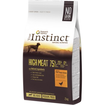 Pienso para perros High Meat Free Range Chicken 2 Kg - True Instinct