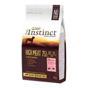 Pienso para perros High Meat Med Salmon 12 Kg - True Instinct
