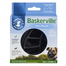 Baskerville Ultra Muzzle Size 2 - Negro - The Company of animals
